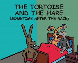 Lots of people know the story about the tortoise and the hare, but not everyone knows what happened after the race.
