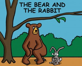 A bear and a rabbit are taking a crap in the woods. The bear asks the rabbit if he ever experiences a problem with crap sticking to his fur.