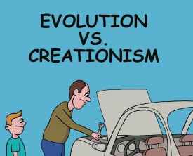 Evolution and creationism are two opposing view points. What's a child suppose to believe when parents answer the same question in different ways?