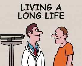 Living a long life! Don't we all want to live to a healthy, old age? A 65 year old man visits the doctor and wants to know if he'll reach 80.