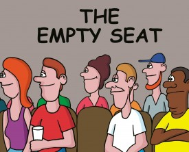 An empty seat at the NBA finals! It might not seem too odd, but what if the seat was in the desirable front row? A fan can't help but ask what happened.
