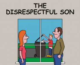 A disrespectful son calls his Mom a bad word. When she tells her husband, he responds in a most unusual way. Where did the boy learn such language?