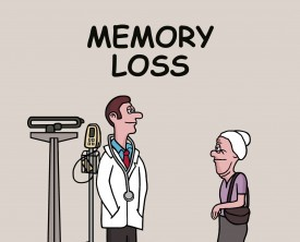 Memory loss is a concern for an old woman so she visits the doctor. The doctor wants to know how long she has been experiencing this problem.