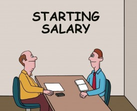 """""""What starting salary are you looking for"""", asked the interviewer. The engineering graduate responds realistically about this expectations."""
