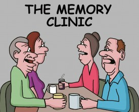 An old couple went to a memory clinic to learn techniques for improving their recall abilities. The techniques come in handy while meeting with friends.